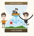 Vacation businessman vector