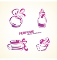 Perfumery set vector