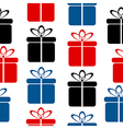 Gift icon seamless pattern vector