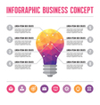 Infographic business concept - lamp of idea vector