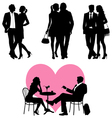 Several people - silhouettes vector