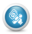 Telephone banking glossy icon vector