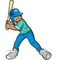 Boy baseball batter vector