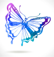 Colorful background with watercolor butterfly vector