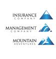 Mountain theme logo vector