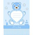 Baby boy shower invitation ca vector