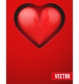 Background with beautiful realistic heart vector