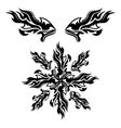 Set of black tribal elements vector