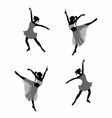 Ballet dancer girl silhouettes vector