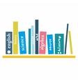Books on the shelve vector
