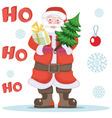 Santa claus on holidays vector