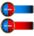30 minutes labels vector