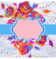 Floral template with blooming flowers eps 8 vector