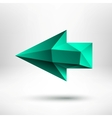 3d green left arrow sign with light background vector