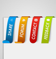 Set of colored paper tags web element vector