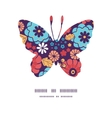 Colorful bouquet flowers butterfly silhouette vector