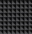 Triangle black texture seamless background vector