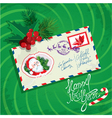 Christmas and new year card with envelope christma vector