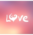 Abstract background with text for love confession vector