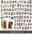 Newspaper alphabet vector