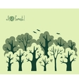 Abstract banner of green deciduous forest vector
