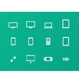 Screens icons on green background vector