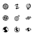 Glode icon set vector