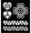 Irish scottish celtic heart pattern vector