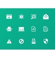 Security icons on green background vector