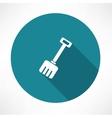 Snow shovel icon vector