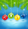Christmas tree background with 2014 vector