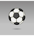Football ball on light background vector
