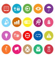 Home use machine sign flat icons on white vector