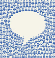 Social media user speech bubble vector