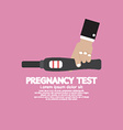 Pregnancy test tool in hand with positive result vector
