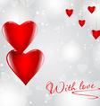 Modern love hearts background vector