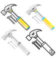 Different styles of hammer sets vector