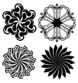 Set of round tattoo elements vector