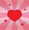 Shiny hearts shape vector