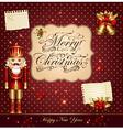 Christmas with nutcracker vector