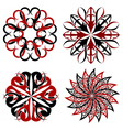 Set of round tribal tattoo elements vector