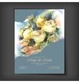 Watercolor roses wedding invitation vector