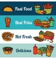 Fast food restaurant menu banners set vector