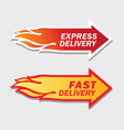Express and fast delivery symbols vector