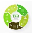 Green circle arrows eco infographic vector