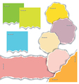 Pieces of torn colorful sheets of paper vector