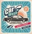 Retro car wash poster vector