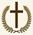Krst sa laurelom resize vector