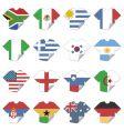 T-shirt flags vector