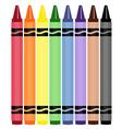 Wax crayons vector